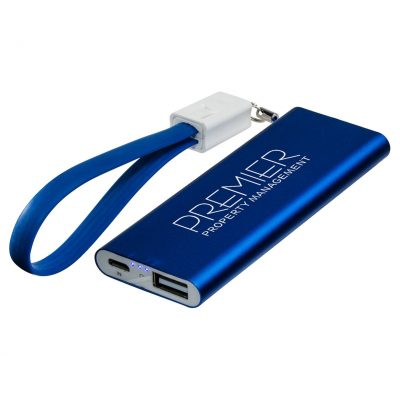Ready to Go - 2000mAh Power Bank w/Cable