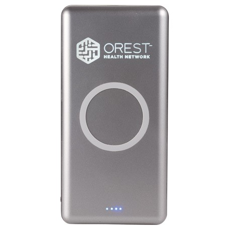 UL Listed Light Up Qi Wireless 10000 Power Bank
