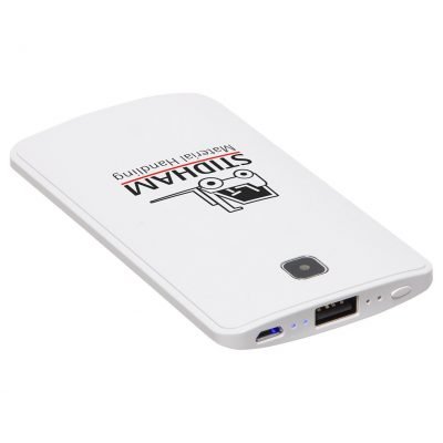 Ultra Flat 3600mAh Power Bank with Flashlight