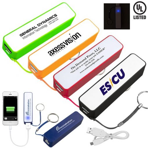 """In Charge"" PB200 UL® 2200 mAh Portable Charger"