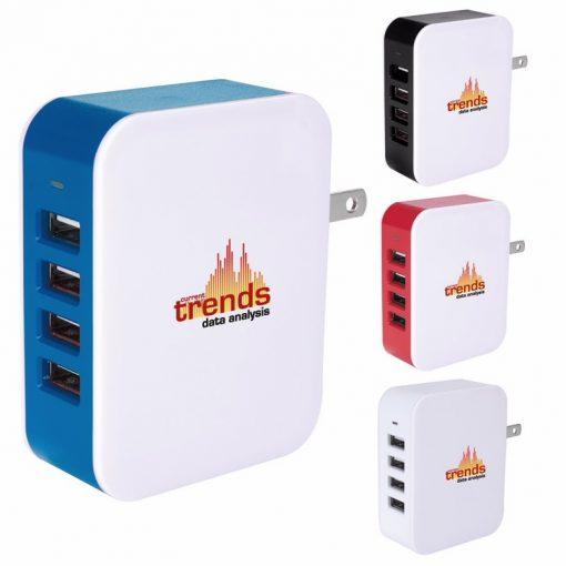 Good Value® 4 Port USB Wall Adapter