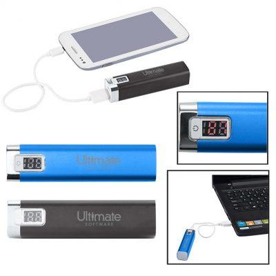 Portable Metal Power Bank Charger w/LED Display