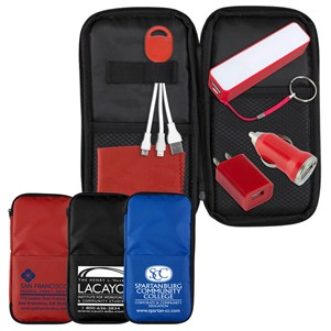 """TravPouch Plus"" Cell Phone Charger Travel Kit w/Tech Components"
