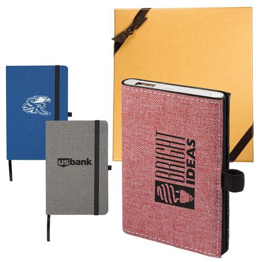 STRAND™ Snow Canvas Notebook/Executive Charger Gift Set