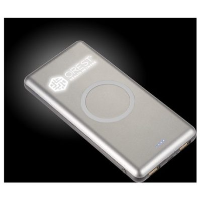 UL Listed Light Up Qi 10000 Wireless Power Bank