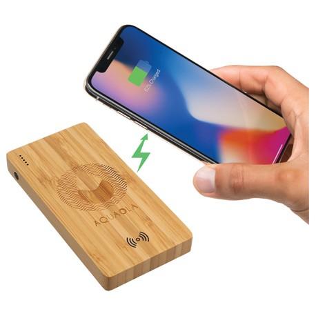 Plank 5000 mAh Bamboo Wireless Power Bank