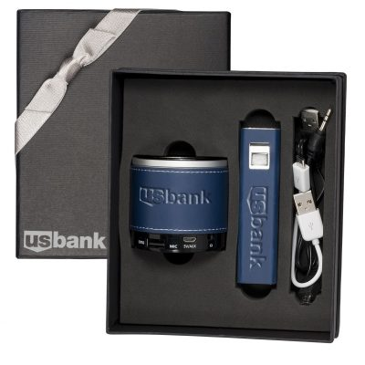 Tuscany™ Power Bank and Wireless Speaker Gift Set