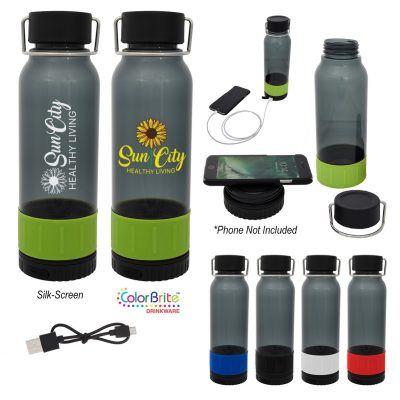 23 Oz. Carter Tritan™ Bottle With Wireless Charger And Power Bank