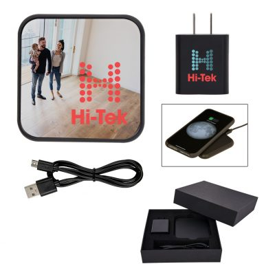 Dynamic Duo Wireless Charger And Adapter Gift Set