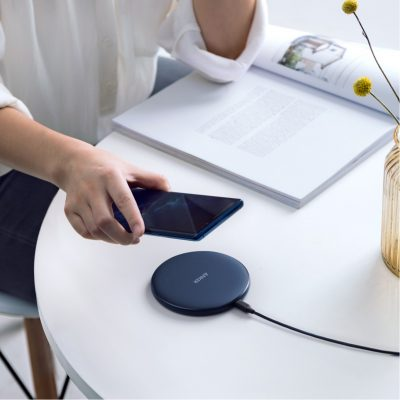 Navy Blue Anker® PowerWave 10W Qi Wireless Charger