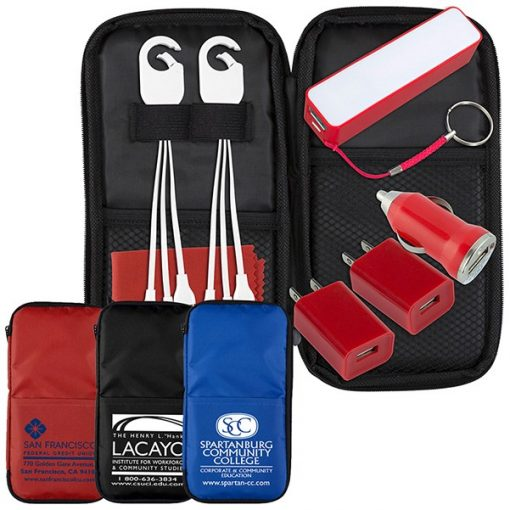 Deluxe Cell Phone Charger Travel Kit