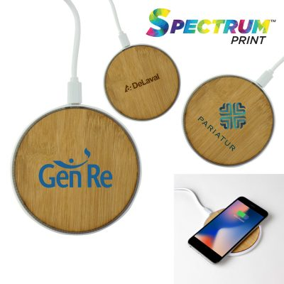 Bamboo Light-Up Wireless Charging Pad