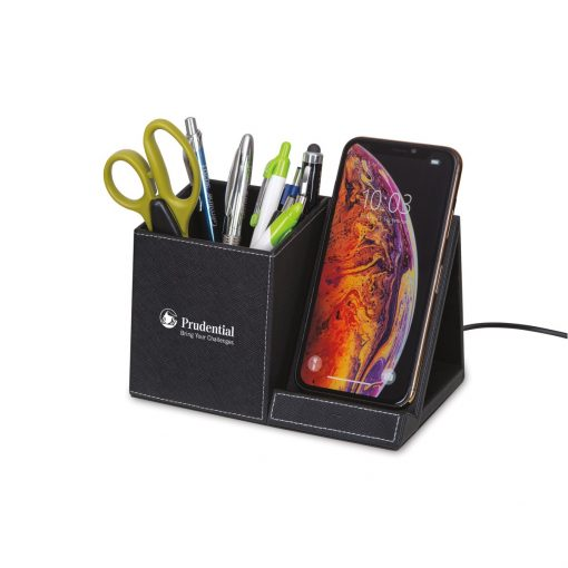 Truman Wireless Charging Pencil Cup - Black