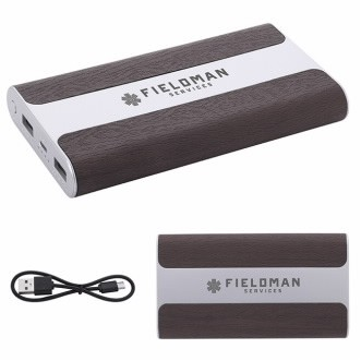 6000 mAh BIC Graphic® PU Light Up Logo Power Bank