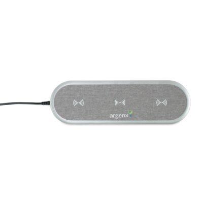 Quinn 5-in-1 Wireless Charging Station - Medium Grey Heather