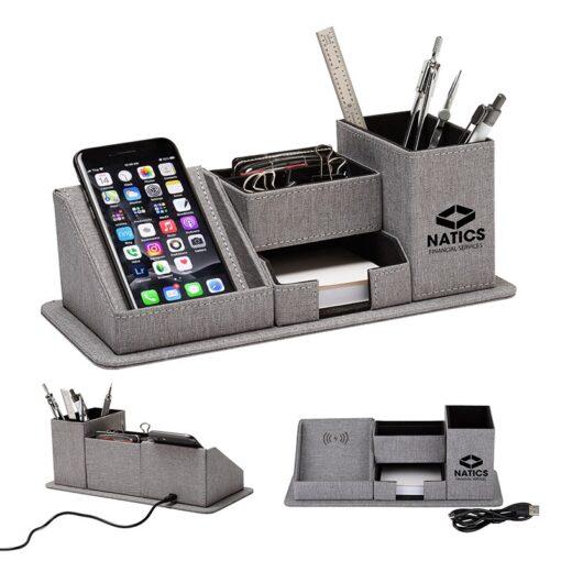 Amridge Wireless Charging Desk Organizer