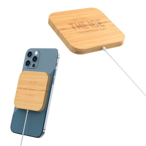 Mag Max Bamboo Magnetic Wireless Charger
