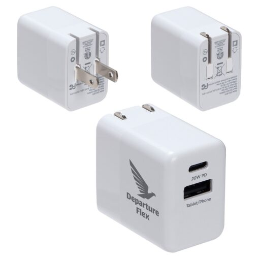 Sonic 20W Fast USB-C PD Charger with Dual Outputs